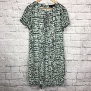 Banana Republic Small Shift Dress Mint Green Gray